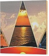 0a Relaxing Sunsets Collage Wood Print