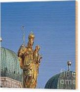 Towers Of Frauenkirche Wood Print