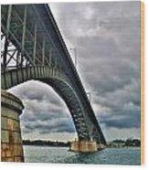009 Stormy Skies Peace Bridge Series Wood Print