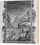 1731 Johann Scheuchzer Noah's Ark Flood Wood Print by Paul D Stewart