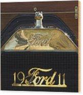 1911 Ford Model T Torpedo Hood Ornament Wood Print by Jill Reger