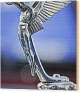 1928 Isotta Fraschini Tipo 8as Landaulet Hood Ornament Wood Print