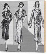 1930s Dresses Wood Print