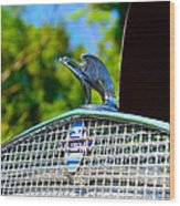 1931 Chevrolet Ae Independence Hood Ornament Wood Print by Paul Ward