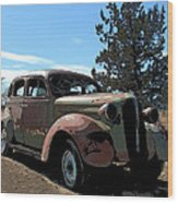 1937 Plymouth Wood Print
