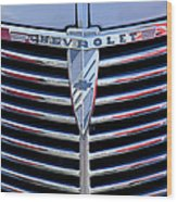 1939 Chevrolet Grille Wood Print