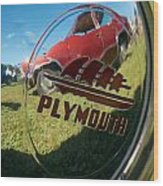1947 Plymouth Coupe Hubcap Wood Print