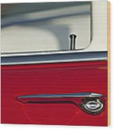 1955 Chevrolet 210 Door Handle Wood Print