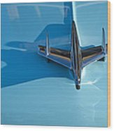 1955 Chevrolet Belair Hood Ornament 2 Wood Print