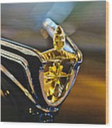 1956 Lincoln Premiere Convertible Hood Ornament Wood Print