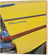 1957 Chevrolet Taillight Wood Print