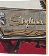 1957 Ford Skyliner Retractable Hardtop Emblem Wood Print