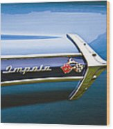 1960 Chevrolet Impala Emblem Wood Print