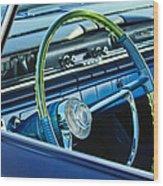 1961 Pontiac Catalina Steering Wheel Wood Print