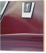 1964 Studebaker Avanti Emblem Wood Print