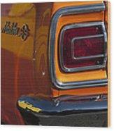 1965 Chevrolet Malibu Ss Taillight Emblem Wood Print