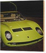 1968 Lamborghini Miura S Wood Print