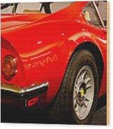 1973 Ferrari Dino 246 Gt Wood Print