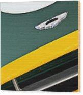 1993 Aston Martin Dbr2 Recreation Hood Emblem Wood Print by Jill Reger