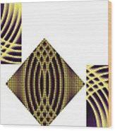 3 Square Wood Print