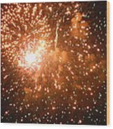 4th Of July Fireworks In Dc  Wood Print
