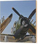 A-1d Skyraider Wood Print