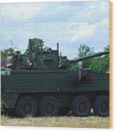 A Belgian Army Piranha IIic Wood Print