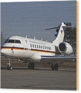 A Bombardier Global 5000 Vip Jet Wood Print