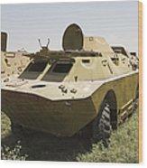 A Brdm-2 Combat Reconnaissancepatrol Wood Print
