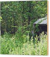 A Broken Down Farm Building Wood Print