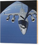 A C-17 Globemaster IIi Receives Fuel Wood Print by Stocktrek Images