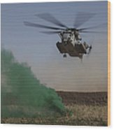 A Ch-53 Super Stallion Helicopter Wood Print