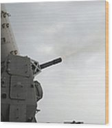 A Close-in Weapons System Is Fired Wood Print