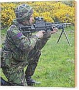 A Coldstream Guard Training In Scotland Wood Print