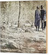 A Couple In The Woods Wood Print by Joana Kruse