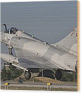 A Dassault Mirage 2000 Of The United Wood Print