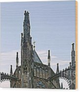 A Forest Of Spires - St Vitus Cathedral Prague Wood Print