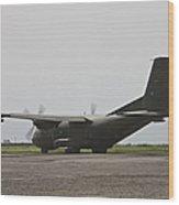 A German Air Force Transall C-160 Taxis Wood Print