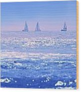A Good Day For Sailing Wood Print