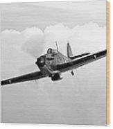 A Hawker Hurricane Aircraft In Flight Wood Print
