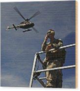 A Joint Terminal Attack Controller Wood Print