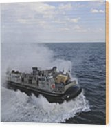 A Landing Craft Utility From Assault Wood Print