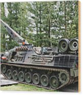 A Leopard 1a5 Mbt Of The Belgian Army Wood Print by Luc De Jaeger