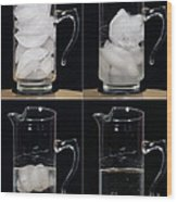 A Pitcher Of Ice Melts Over 4 Hours Wood Print