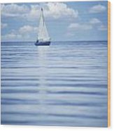 A Sailboat Wood Print