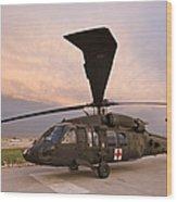 A Uh-60l Black Hawk Medevac Helicopter Wood Print
