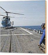 A Ukrainian Navy Ka-27 Helix Helicopter Wood Print