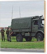 A Unimog Vehicle Of The Belgian Army Wood Print