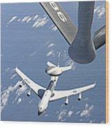 A U.s. Air Force E-3 Sentry Airborne Wood Print