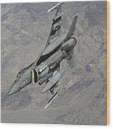 A U.s. Air Force F-16 Fighting Falcon Wood Print